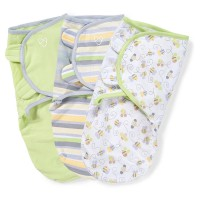 SUMMER INFANT КОМПЛЕКТ ПЕЛЕНОК-КОНВЕРТОВ SWADDLE ME ПЧЕЛКИ